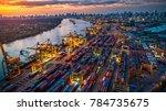 logistics and transportation of ...   Shutterstock . vector #784735675