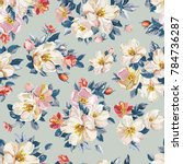 elegance seamless pattern with... | Shutterstock .eps vector #784736287