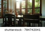 the  design of the dinner table ... | Shutterstock . vector #784742041