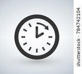 clock and arrow icon. time... | Shutterstock .eps vector #784742104