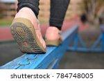 walk on the balance beam | Shutterstock . vector #784748005