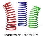 automotive suspension springs... | Shutterstock . vector #784748824