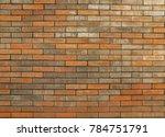 exposed brick wall texture... | Shutterstock . vector #784751791