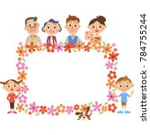 three generations family and... | Shutterstock .eps vector #784755244
