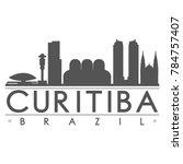 curitiba brazil america skyline ... | Shutterstock .eps vector #784757407