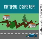 natural disaster illustration... | Shutterstock .eps vector #784757905