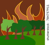 natural disaster illustration... | Shutterstock .eps vector #784757911