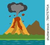 natural disaster illustration... | Shutterstock .eps vector #784757914