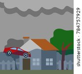 natural disaster illustration...   Shutterstock .eps vector #784757929