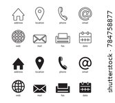 web icons for business  vector | Shutterstock .eps vector #784758877
