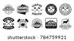adventure logo and badge bundle  | Shutterstock .eps vector #784759921
