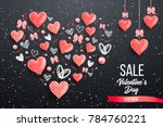 happy saint valentines day... | Shutterstock .eps vector #784760221