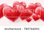 realistic 3d colorful romantic... | Shutterstock .eps vector #784766041