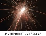 firework celebration at night. | Shutterstock . vector #784766617