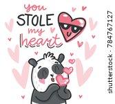 cute teddy bear character in... | Shutterstock .eps vector #784767127