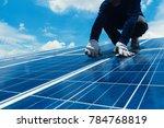 engineer team working on... | Shutterstock . vector #784768819