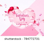 happy holidays  valentines day... | Shutterstock .eps vector #784772731