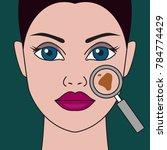 pigment spot on female face