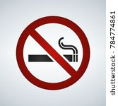 no smoking sign on white... | Shutterstock .eps vector #784774861