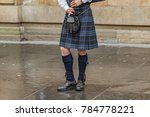 scottish bagpipe player | Shutterstock . vector #784778221
