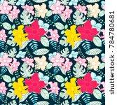 flower seamless pattern | Shutterstock .eps vector #784780681