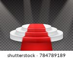 illustration of podium template....   Shutterstock . vector #784789189