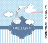 baby shower card | Shutterstock .eps vector #784802791