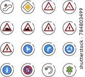 line vector icon set  ... | Shutterstock .eps vector #784803499