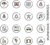 line vector icon set  ... | Shutterstock .eps vector #784804321