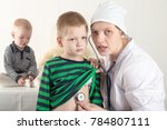 happy cute boys playing with...   Shutterstock . vector #784807111