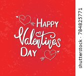 vector text happy valentine day.... | Shutterstock .eps vector #784825771