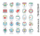 digital and internet marketing ... | Shutterstock .eps vector #784825849