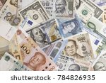 international banknotes from... | Shutterstock . vector #784826935