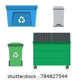 thrash and recycling can.... | Shutterstock .eps vector #784827544
