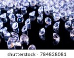 a lot of shiny diamonds on a... | Shutterstock . vector #784828081