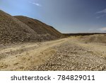 gravel pit excavation site on a ... | Shutterstock . vector #784829011