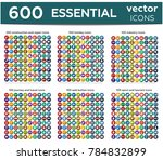 600 essentials flat icon   ... | Shutterstock .eps vector #784832899