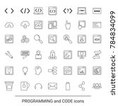 code and programming icons in... | Shutterstock .eps vector #784834099