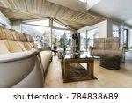 living room of luxury house... | Shutterstock . vector #784838689