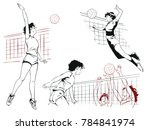 stock illustration. people in... | Shutterstock .eps vector #784841974