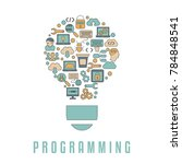 coding and programming concept. ... | Shutterstock .eps vector #784848541