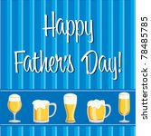 Beer theme Father's Day Card in vector format. - stock vector