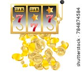 casino. golden slot machine... | Shutterstock .eps vector #784874584