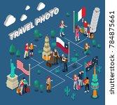 journey people isometric... | Shutterstock . vector #784875661