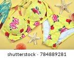summer swimsuit bikini fashion  ... | Shutterstock . vector #784889281