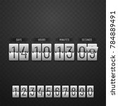 countdown website  digital... | Shutterstock .eps vector #784889491