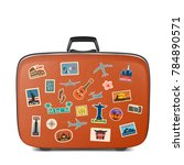 vector travel stickers  labels... | Shutterstock .eps vector #784890571