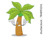 wink palm tree character cartoon | Shutterstock .eps vector #784893241