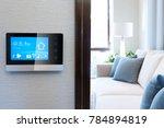 smart screen with smart home... | Shutterstock . vector #784894819