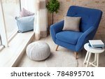 interior of living room with... | Shutterstock . vector #784895701
